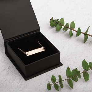 Jewelry - 18K ROSE GOLD CUSTOM ENGRAVED NECKLACE